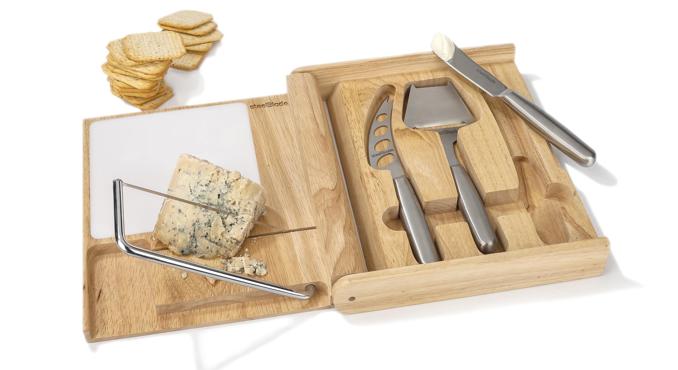 Estuche set de cuchillos para queso y lira steelblade for Cuchillo queso el corte ingles
